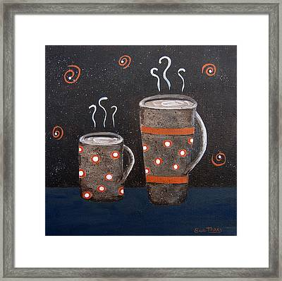 Wake Up And Smell The Coffee Framed Print by Suzanne Theis