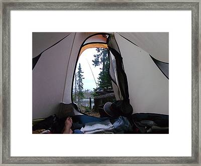 Wake Up Call Quetico 2010 Framed Print by Amy Manley