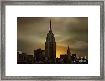 Wake Up New York Framed Print