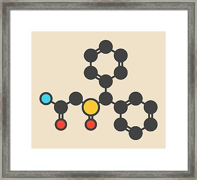 Wakefulness Promoting Drug Molecule Framed Print by Molekuul