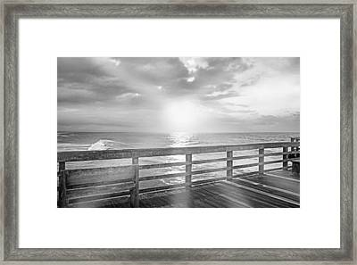 Waking Coast Framed Print