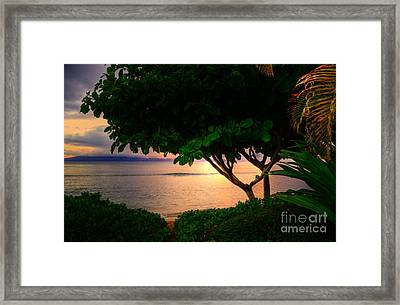 Waking Ka'anapali  Framed Print by Kelly Wade