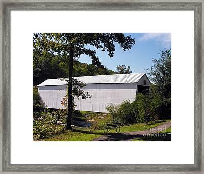 Walcott Covered Bridge 2 Framed Print by Mel Steinhauer