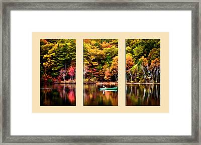 Walden Pond In Three  Framed Print by Garland Johnson