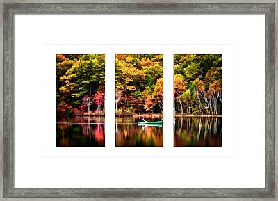 Walden Pond In Three Framed Print
