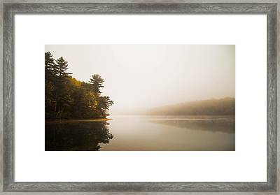 Walden Pond October Morning Framed Print