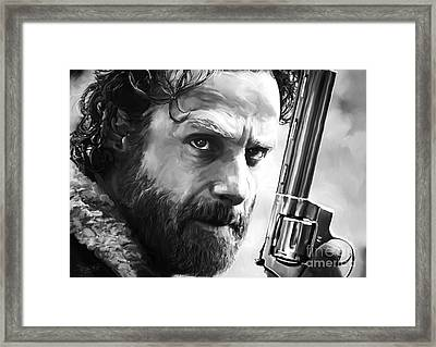 Walking Dead - Rick Grimes Framed Print by Paul Tagliamonte