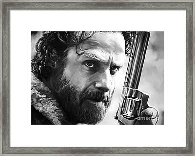 Walking Dead - Rick Grimes Framed Print