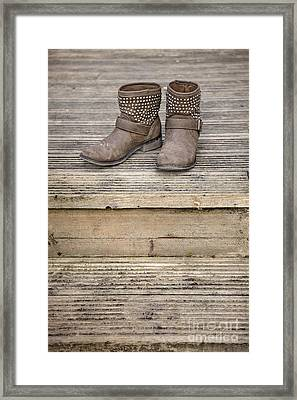 Walk A Mile In My Shoes Framed Print by Evelina Kremsdorf