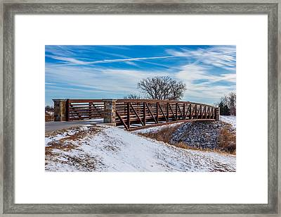 Walk Across Bridge Framed Print