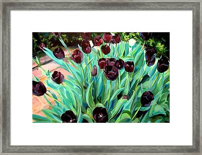 Walk Among The Tulips Framed Print