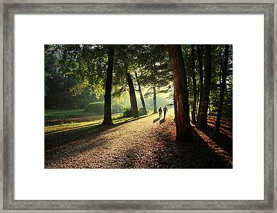 Walk Framed Print by Annie Snel