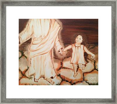 Walk By Me Framed Print by Brindha Naveen