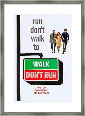 Walk, Dont Run, Us Poster Art Framed Print