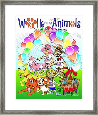 Walk For The Animals Framed Print by Joe King