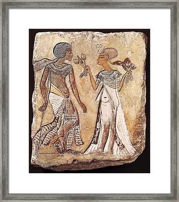 Walk In The Garden. 1350 Bc. 18th Framed Print