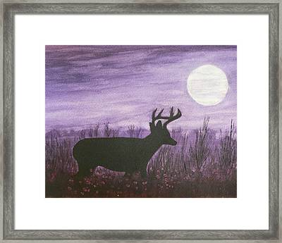 Framed Print featuring the painting Walk In The Moonlight by Dan Wagner