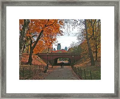 Walk In The Park Framed Print by Barbara McDevitt