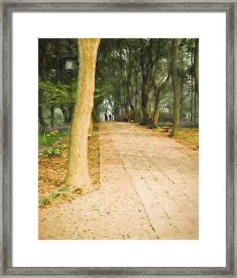 Framed Print featuring the painting Walk In The Park by Ike Krieger