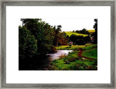 Framed Print featuring the photograph Walk In The Park by Karen Kersey