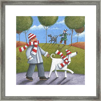 Walk In The Park Framed Print by Peter Adderley
