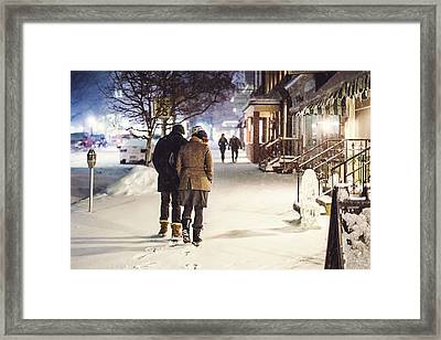 Walk In The Snow Framed Print