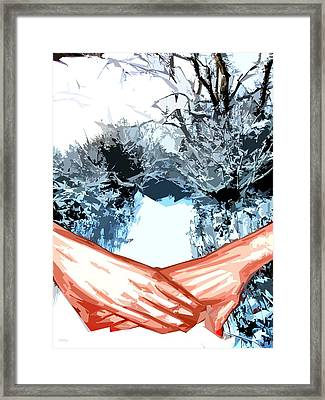 A Walk In The Snow Framed Print by Patrick J Murphy