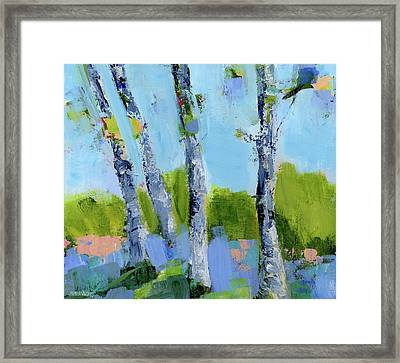 Walk In The Woods Iv Framed Print by Pamela J. Wingard