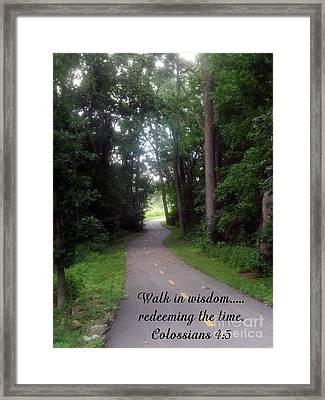 Walk In Wisdom Framed Print