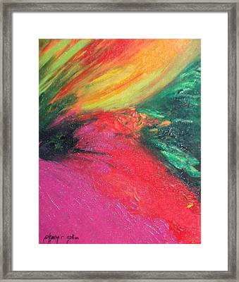 Walk Into Bliss Framed Print by Ifeanyi C Oshun