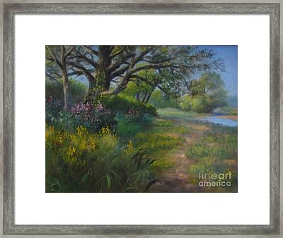 Walk Into Summer Framed Print
