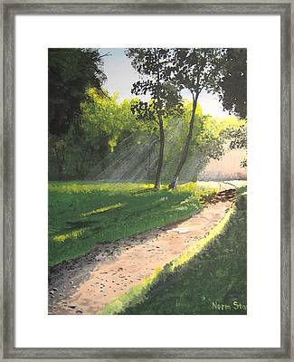 Walk Into The Light Framed Print by Norm Starks