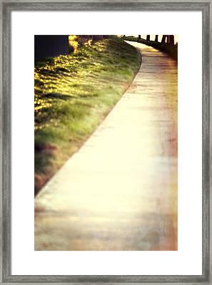 Walk Into The Sun Framed Print