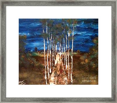 Framed Print featuring the painting Walk Me Home by Denise Tomasura