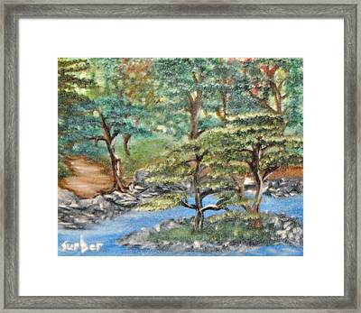 Walk In Faith Framed Print by Suzanne Surber