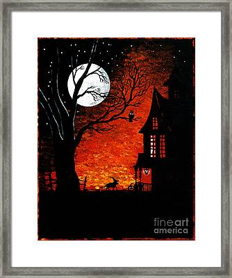 Walk Of The Catwitch Framed Print