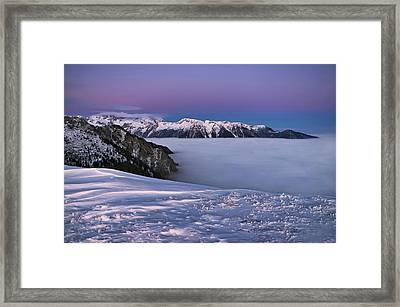 Framed Print featuring the photograph Walk On Clouds by Graham Hawcroft pixsellpix