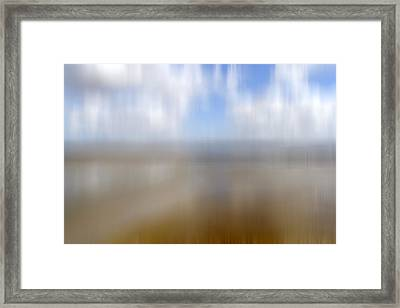 Walk On The Beach Framed Print by Kevin Round