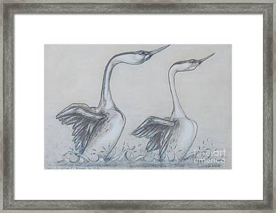 Walk On Water Framed Print by Blanch Paulin