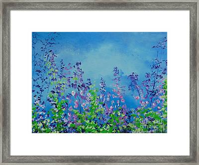 Walk Out Into The Fields Framed Print