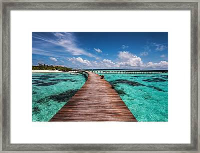 Walk Over The Water Framed Print by Jenny Rainbow