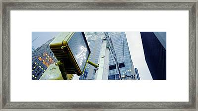 Walk Signal New York New York Usa Framed Print by Panoramic Images