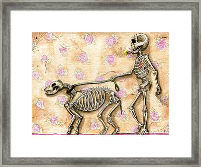 Walk The Dog Framed Print