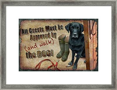 Walk The Dog Framed Print by JQ Licensing