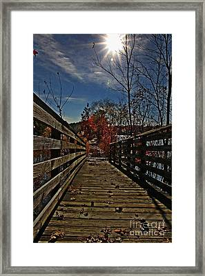 Walk The Line Framed Print by Scott Allison
