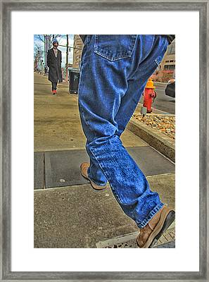 Walk The Truth Framed Print by Karol Livote