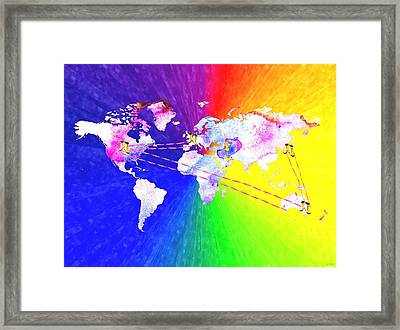 Walk The World Framed Print by Daniel Janda