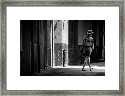 Walk This Way .. Framed Print by A Rey