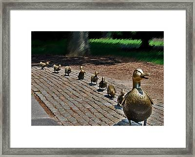 Framed Print featuring the photograph Walk This Way by Caroline Stella