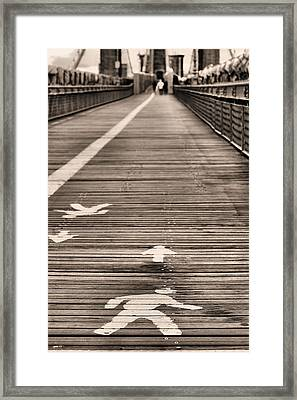 Walk This Way Framed Print